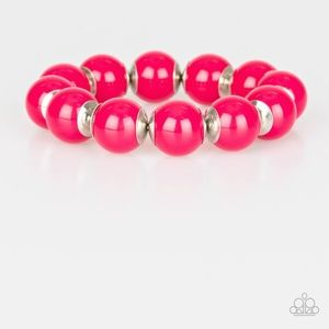Candy Shop Sweetheart Pink Stretch Bracelet